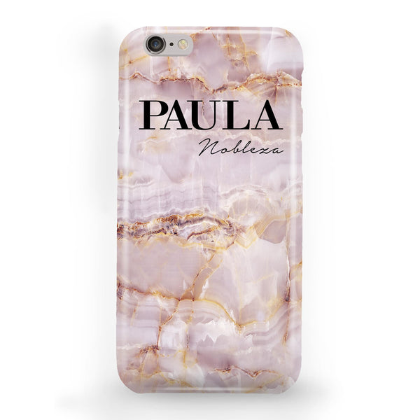 Personalised Natural Pink Marble Name iPhone 6 Plus/6s Plus Case