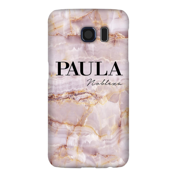 Personalised Natural Pink Marble Name Samsung Galaxy S6 Edge Case