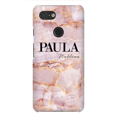 Personalised Natural Pink Name Google Pixel 3 Case