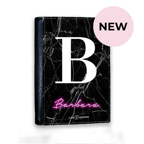 Personalised Neon Initial Name Passport Cover