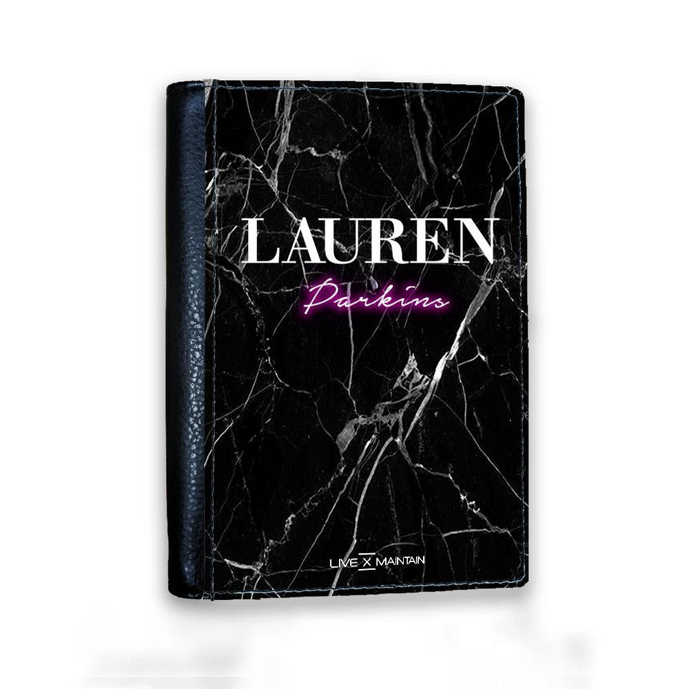 Personalised Neon Name Passport Cover