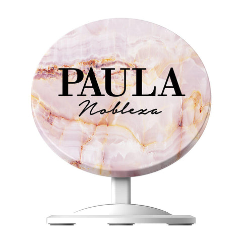 Personalised Natural Pink Marble Name Wireless Charger