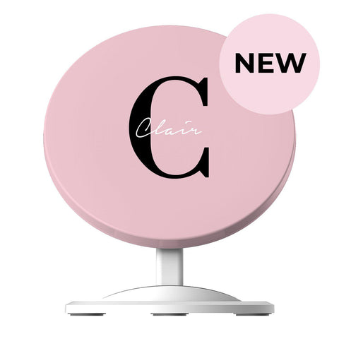 Personalised Bloom Name Initial Wireless Charger