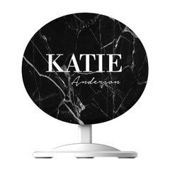 Personalised Black Marble Name Wireless Charger