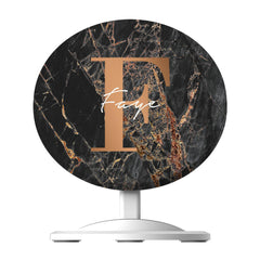 Personalised Slate Marble Bronze Initial  Wireless Charger