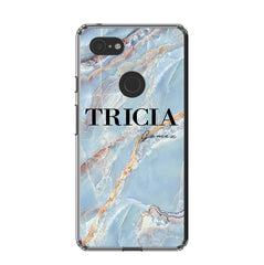 Personalised Ocean Marble Name Google Pixel 3 XL Case