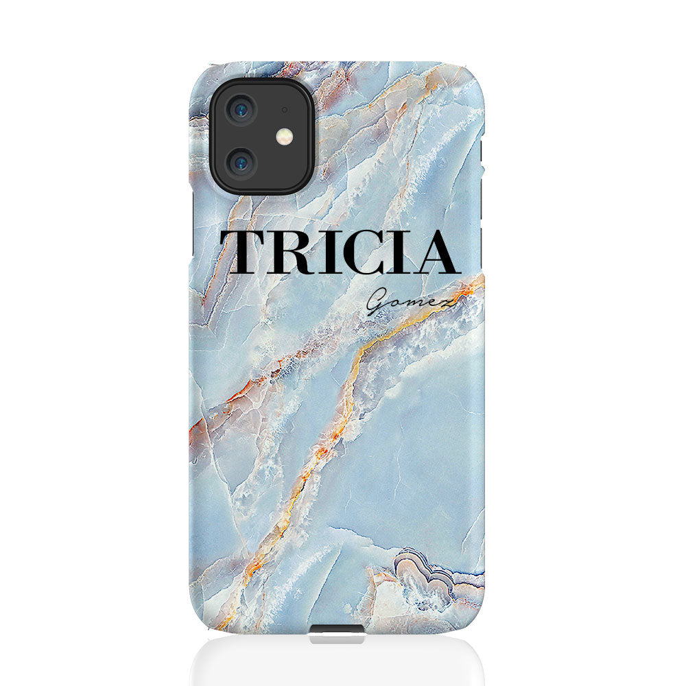 Personalised Ocean Marble Name iPhone 11 Case