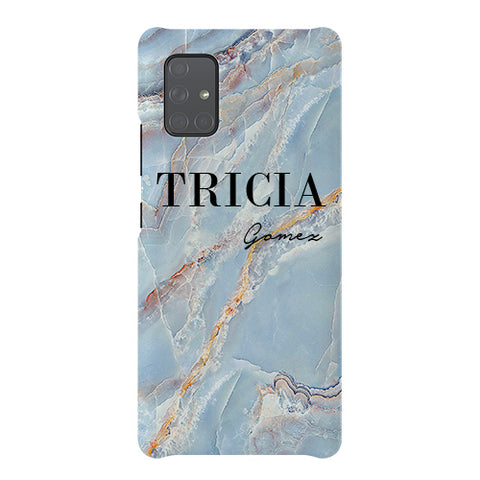 Personalised Ocean Marble Name Samsung Galaxy A51 5G Case