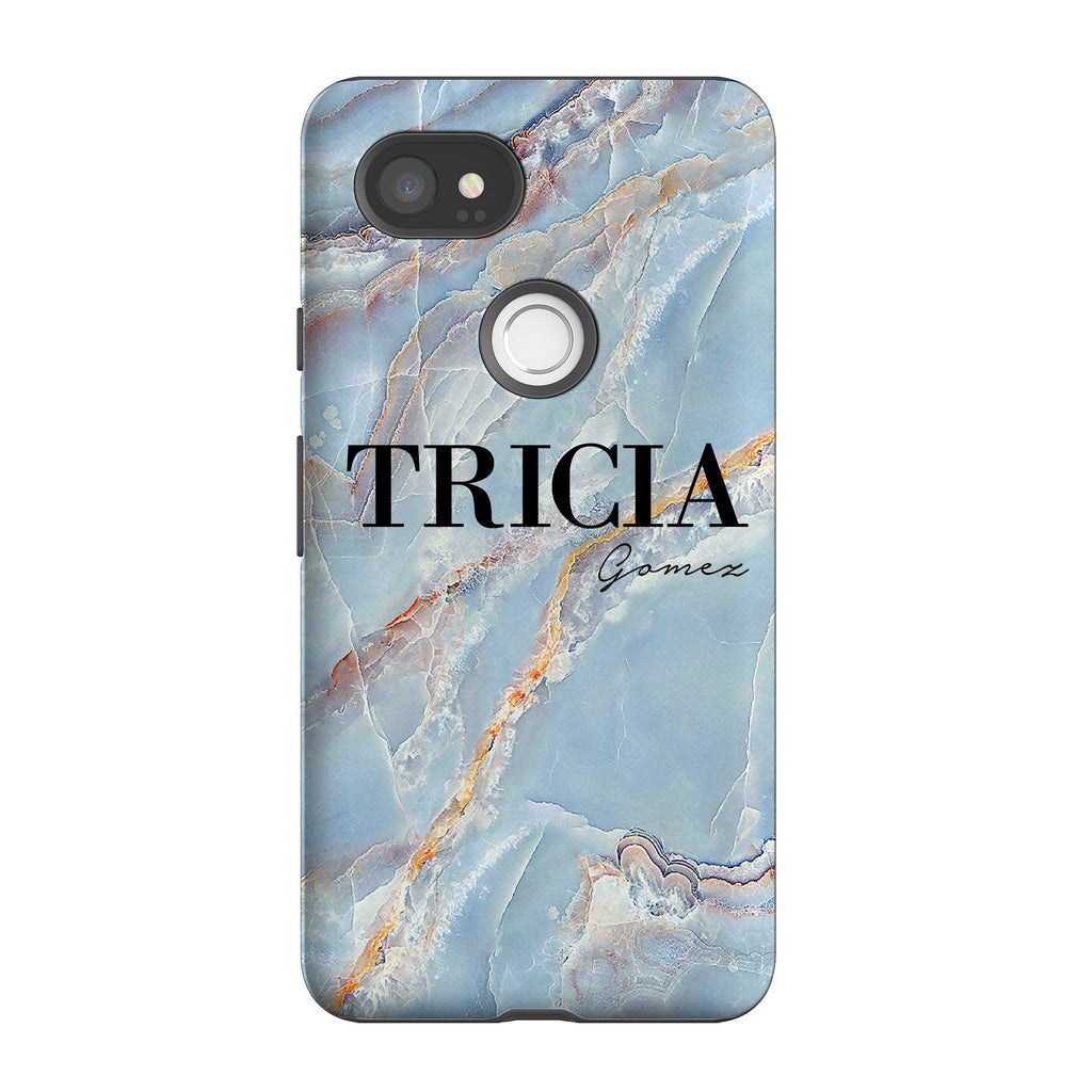 Personalised Ocean Marble Name Google Pixel 2 XL Case