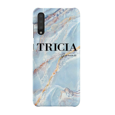 Personalised Ocean Marble Name Samsung Galaxy A70 Case