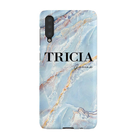 Personalised Ocean Marble Name Samsung Galaxy A50 Case