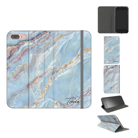 Personalised Ocean Marble Name iPhone 8 Plus Case