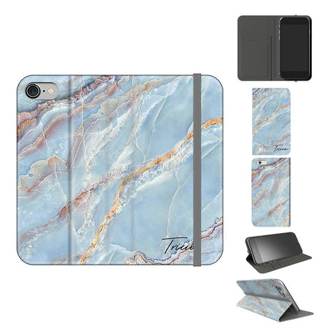 Personalised Ocean Marble Name iPhone 8 Case