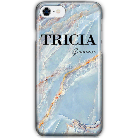 Personalised Ocean Marble Name iPhone 7 Case