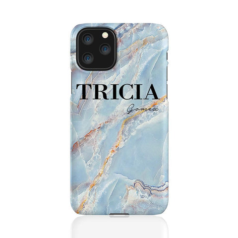 Personalised Ocean Marble Name iPhone 11 Pro Case