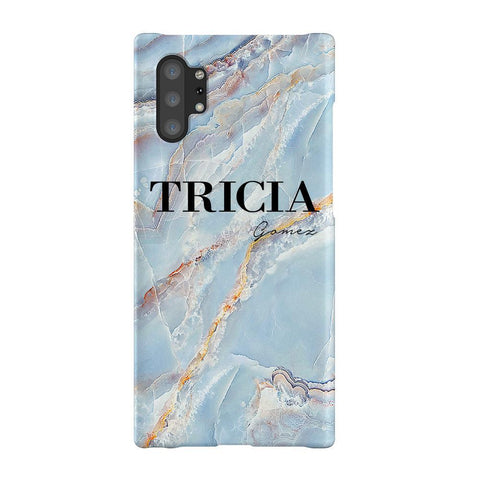 Personalised Ocean Marble Name Samsung Galaxy Note 10+ Case