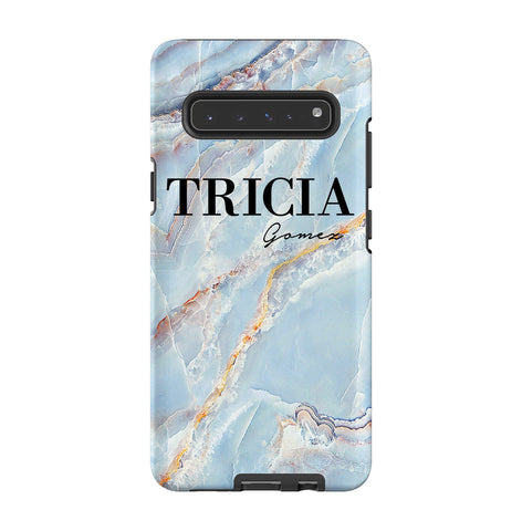 Personalised Ocean Marble Name Samsung Galaxy S10 5G Case