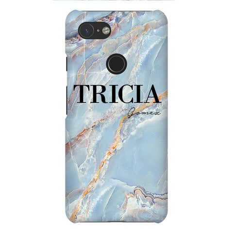 Personalised Ocean Marble Name Google Pixel 3 Case