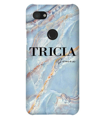 Personalised Ocean Marble Name Google Pixel 3a XL Case