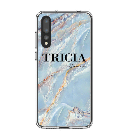 Personalised Ocean Marble Name Huawei P20 Pro Case