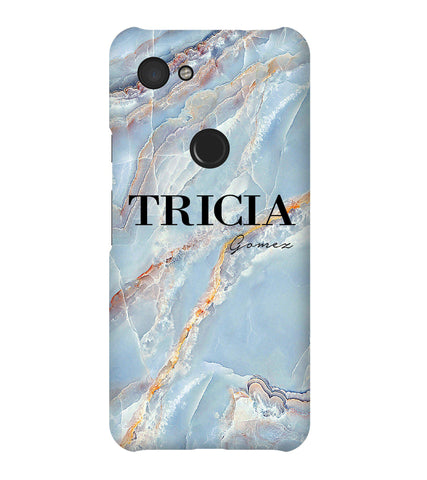Personalised Ocean Marble Name Google Pixel 3a Case