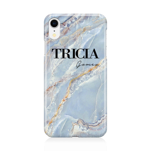 Personalised Ocean Marble Name iPhone XR Case