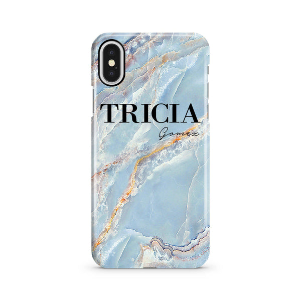 Personalised Ocean Marble Name iPhone X Case
