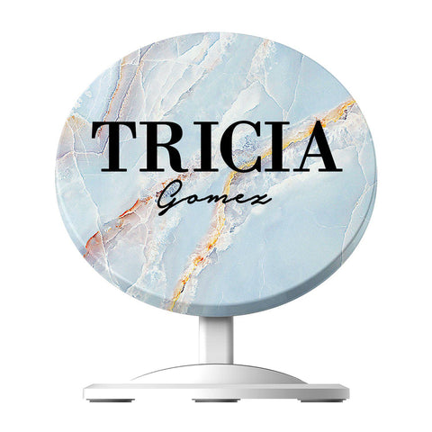 Personalised Ocean Marble Name Wireless Charger