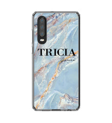 Personalised Ocean Marble Name Huawei P30 Case