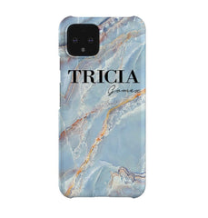 Personalised Ocean Marble Name Google Pixel 4 Case