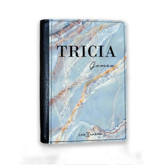 Personalised Ocean Marble Name Passport Cover
