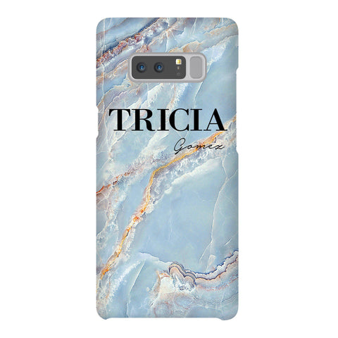 Personalised Ocean Marble Name Samsung Galaxy Note 8 Case