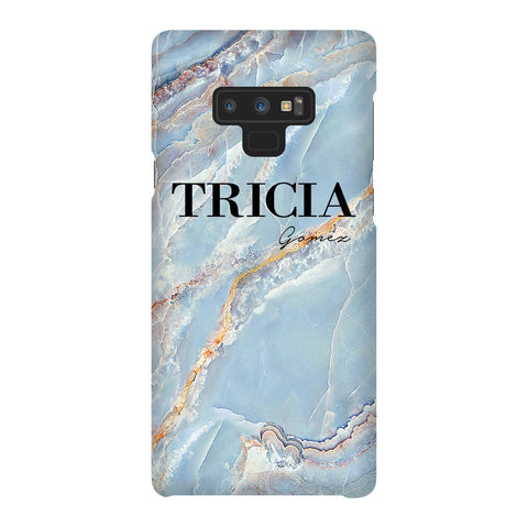 Personalised Ocean Marble Name Samsung Galaxy Note 9 Case