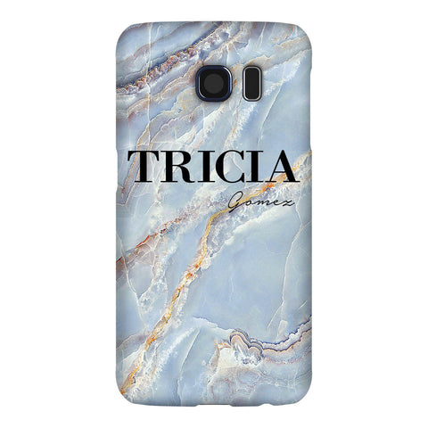 Personalised Ocean Marble Name Samsung Galaxy S6 Edge Case