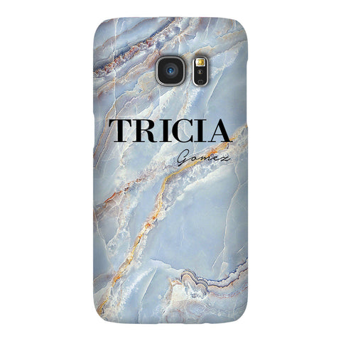 Personalised Ocean Marble Name Samsung Galaxy S7 Edge Case