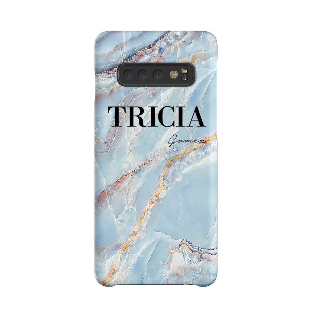 Personalised Ocean Marble Name Samsung Galaxy S10 Case