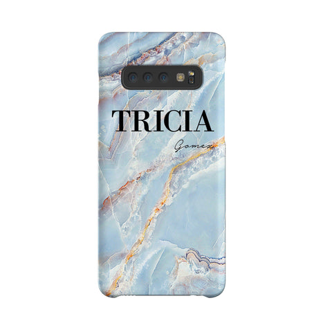 Personalised Ocean Marble Name Samsung Galaxy S10 Plus Case