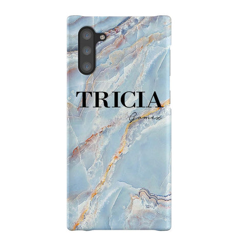 Personalised Ocean Marble Name Samsung Galaxy Note 10 Case