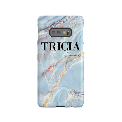Personalised Ocean Marble Name Samsung Galaxy S10e Case