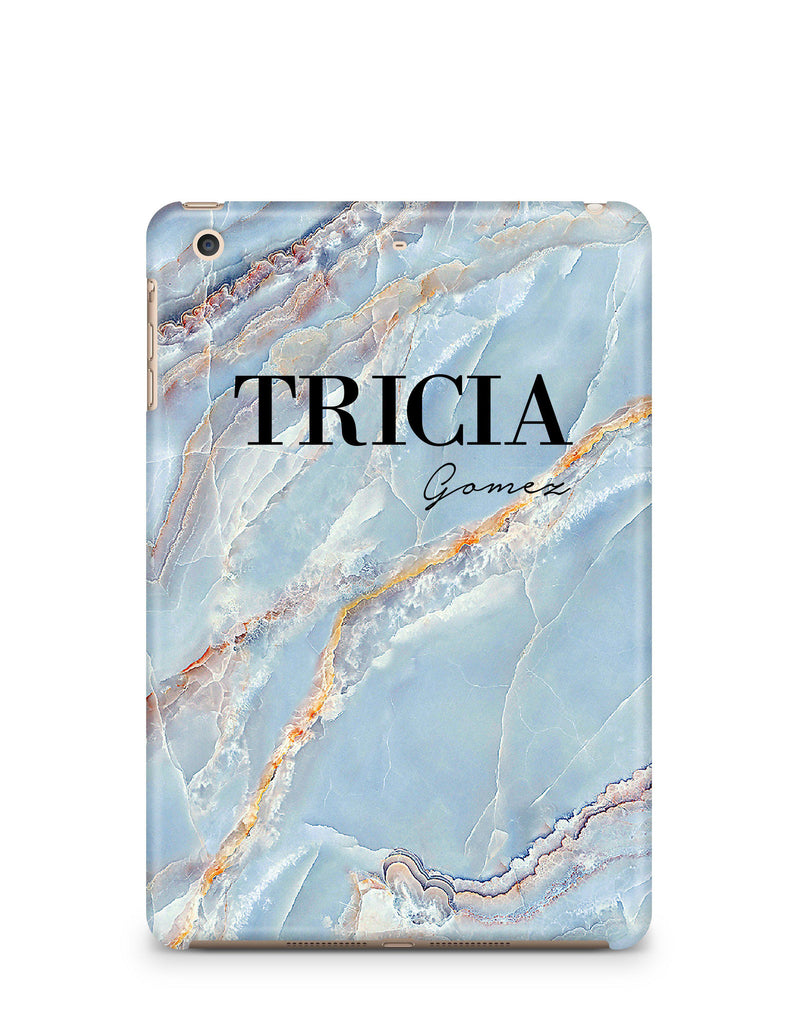 Personalised Ocean Marble Name iPad Case