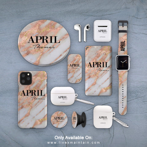 Personalised Aprilia Marble Phone Case Accessories Package