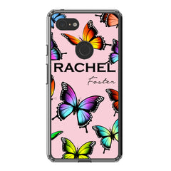 Personalised Butterfly Name Google Pixel 3 XL Case