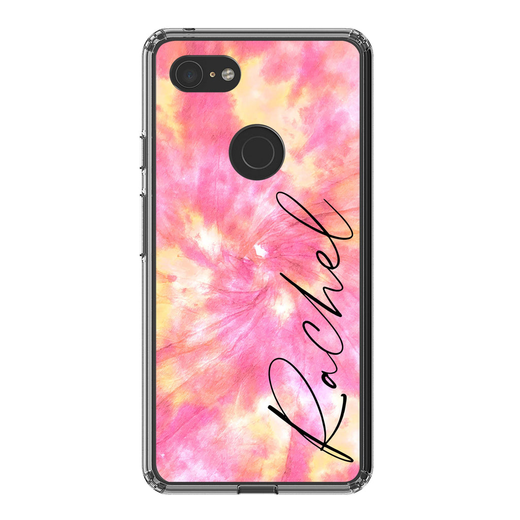 Personalised Tie Dye Name Google Pixel 3XL Case