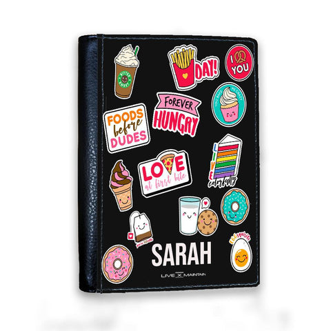 Personalised Foodie Sticker Passport Cover