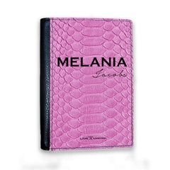 Personalised Pink Snake Skin Name Passport Cover