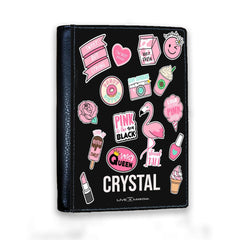 Personalised Pink Sticker Passport Cover
