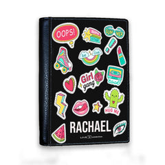 Personalised Sticker Name Passport Cover