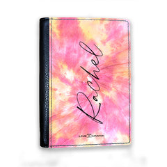 Personalised Tie Dye Name Passport Cover