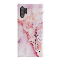 Personalised Pastel Marble Name Samsung Galaxy Note 10+ Case