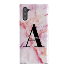 Personalised Pastel Marble Name Initial Samsung Galaxy Note 10 Case